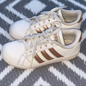 Adidas | Gold + White Sneakers